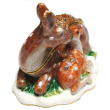 Deer & Fawn Jeweled Trinket Box with SWAROVSKI Crystals