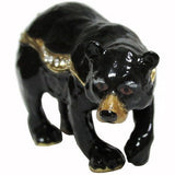 Black Bear Jeweled Trinket Box with SWAROVSKI Crystals