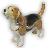 Beagle Jeweled Trinket Box with SWAROVSKI Crystals