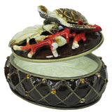 Sea Turtle Jeweled Trinket Box with SWAROVSKI Crystals