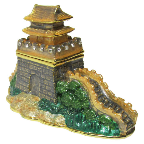 Great Wall Jeweled Trinket Box with SWAROVSKI Crystals