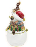 Snowman Jeweled Trinket Box with Austrian Crystals, #3