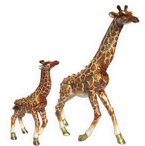 Giraffe & Baby Jeweled Trinket Box with SWAROVSKI Crystals