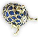 Egg Jeweled Trinket Box, Blue, with SWAROVSKI Crystals