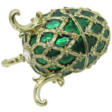 Egg Jeweled Trinket Box, with Austrian Crystals, Green