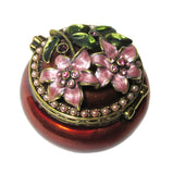 Mini Flower Jeweled Trinket Box with SWAROVSKI Crystals