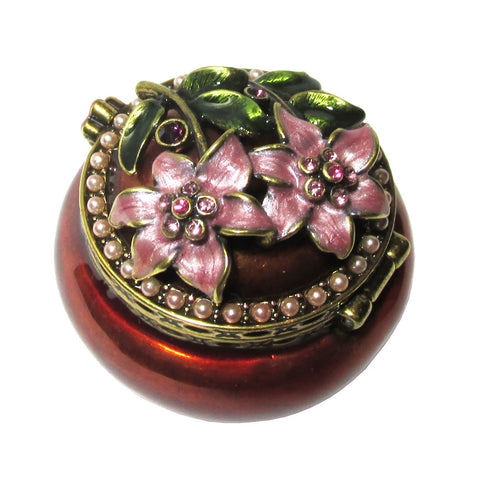 Flower Mini Jeweled Trinket Box with SWAROVSKI Crystals