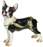 Boston Terrier Jeweled Trinket Box with SWAROVSKI Crystals