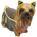 Yorkshire Terrier Jeweled Trinket Box with Austrian Crystals, #2
