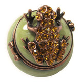 Mini Frog Jeweled Trinket Box with Austrian Crystals, #3