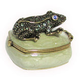 Mini Frog Jeweled Trinket Box with SWAROVSKI Crystals