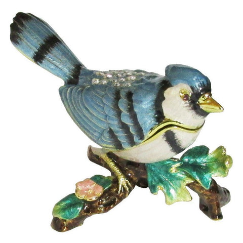 Blue Jay Jeweled Trinket Box with SWAROVSKI Crystals #2