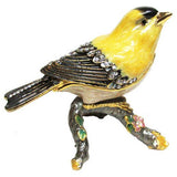 Goldfinch Jeweled Trinket Box with SWAROVSKI Crystals