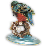Bird, Kingfisher Jeweled Trinket Box with SWAROVSKI Crystals