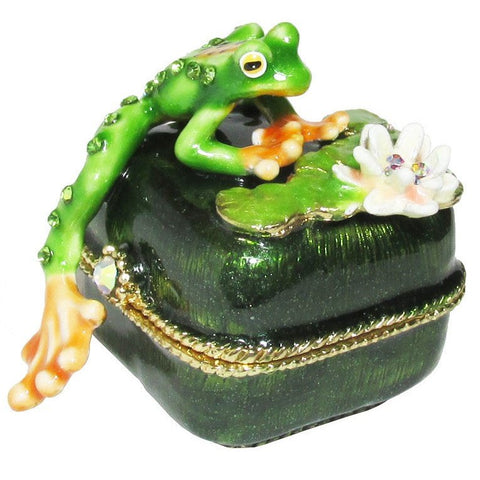 Frog Mini Jeweled Trinket Box with SWAROVSKI Crystals