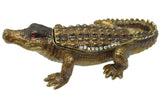 Alligator Jeweled Trinket Box with Austrian Crystals