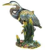 Heron Jeweled Trinket Box with SWAROVSKI Crystals