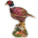 Pheasant Jeweled Trinket Box with SWAROVSKI Crystals