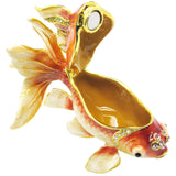 Goldfish Jeweled Trinket Box with SWAROVSKI Crystals