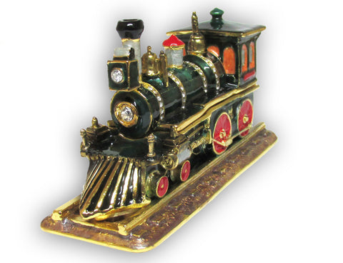 Locomotive Jeweled Trinket Box with SWAROVSKI Crystals