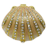 Sea Shell Jeweled Trinket Box with Austrian Crystals