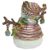 Snowman Jeweled Trinket Box with Austrian Crystals, #2