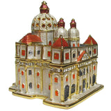 Vatican Jeweled Trinket Box with Austrian Crystals