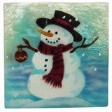 "Capiz Shell Trinket Box, 3"", Snowman"