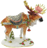 Holiday Moose Jeweled Trinket Box with Austrian Crystals
