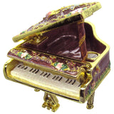 Piano Jeweled Trinket Box with Austrian Crystals, #2