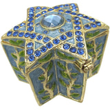 Star of David Jeweled Trinket Box with SWAROVSKI Crystals