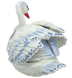 Swan Jeweled Trinket Box with SWAROVSKI Crystals, Blue