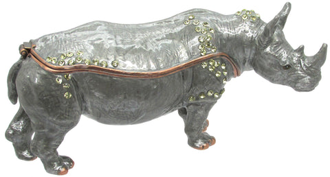 Rhino Jeweled Trinket Box with SWAROVSKI Crystals, by CIEL