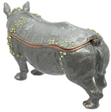 Rhino Jeweled Trinket Box with SWAROVSKI Crystals