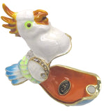 Baby Cockatoo Jeweled Trinket Box with SWAROVSKI Crystals