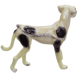 Tosa Dog Jeweled Trinket Box with SWAROVSKI Crystals