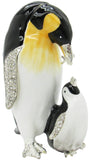 Mama & Baby Penguin Jeweled Trinket Box with Austrian Crystals, #3