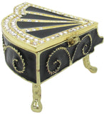 Piano Jeweled Trinket Box with Austrian Crystals