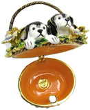 Puppies Jeweled Trinket Box with Austrian Crystals
