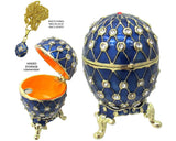 Mini Egg Jeweled Trinket Box, with SWAROVSKI Crystals, Blue