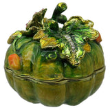 Pumpkin Jeweled Trinket Box with Austrian Crystals