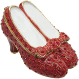 Ruby Slippers Jeweled Trinket Box with Austrian Crystals
