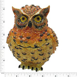 Large Owl Jeweled Trinket Box with Austrian Crystals
