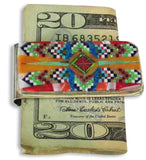 Money Clip, Native American Zuni Multi Stone Inlay, #02