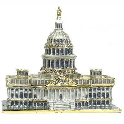 US Capitol Building Jeweled Trinket Box with SWAROVSKI Crystals