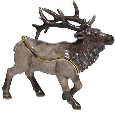 Elk Jeweled Trinket Box with SWAROVSKI Crystals