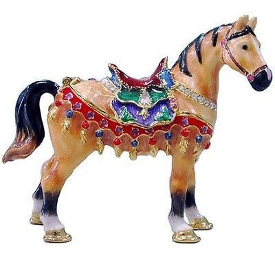 Horse Jeweled Trinket Box with SWAROVSKI Crystals, by RUCINNI, #2