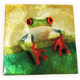 "Capiz Shell Trinket Box, 3"", Tree Frog"