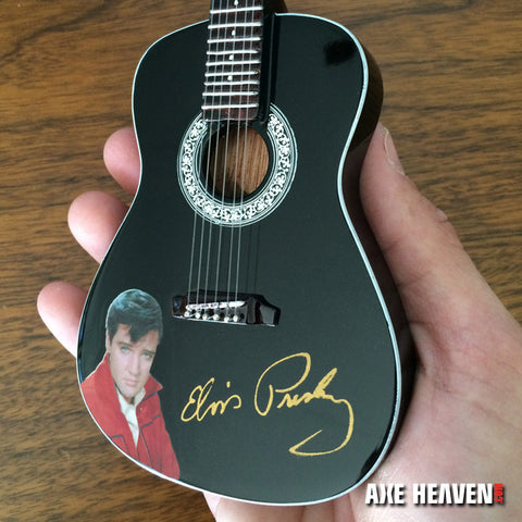 Guitar Replica, Elvis Presley Gold Signature Black Acoustic
