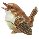 Sparrow Jeweled Trinket Box with SWAROVSKI Crystals, by CIEL